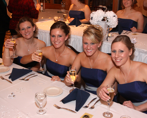 Detroit Bridesmaid at Wedding Reception