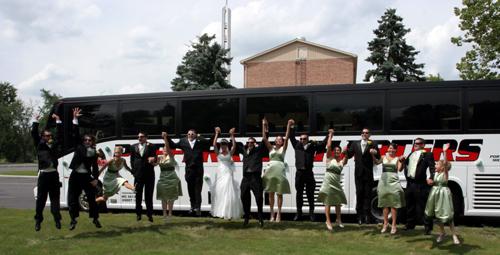 Detroit Wedding Party Bus